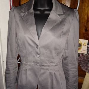 H&M Sz 4 Fitted Blazer Olive Green